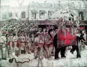 ঢাকায় মহররমের তাজিয়া মিছিলে হাতি ব্যবহৃত হত