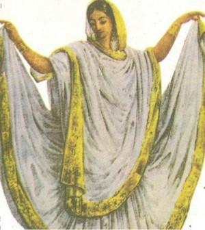 ফরাসী চিত্রকর বেলেনস এর আঁকা এক বাঈজী